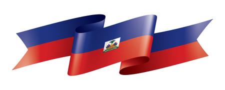 Haiti national flag, vector illustration on a white background Ilustracja
