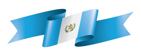 Guatemala national flag, vector illustration on a white background Vetores