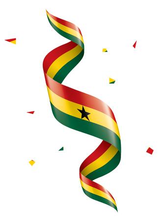 Ghana national flag, vector illustration on a white background
