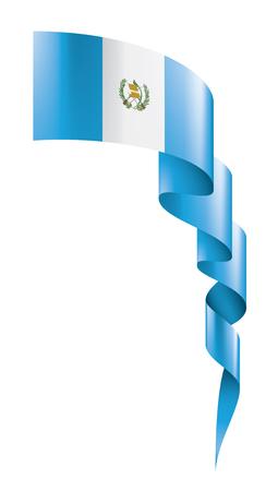 Guatemala national flag, vector illustration on a white background