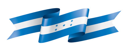 Honduras national flag, vector illustration on a white background