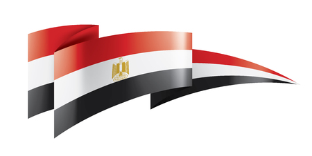 Egypt national flag, vector illustration on a white background Ilustrace
