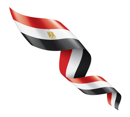 Egypt national flag, vector illustration on a white background 일러스트