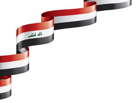 Drapeau irakien, illustration vectorielle sur fond blanc