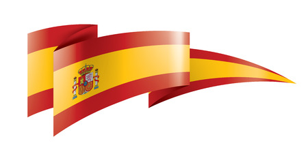 spain national flag, vector illustration on a white background