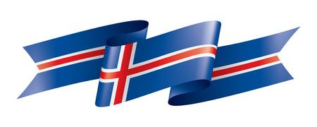 Iceland national flag, vector illustration on a white background Illustration
