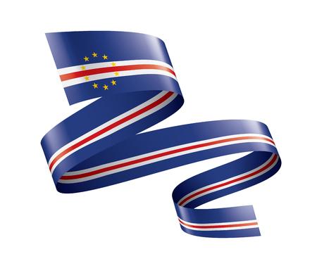 Cape Verde national flag, vector illustration on a white background Ilustração