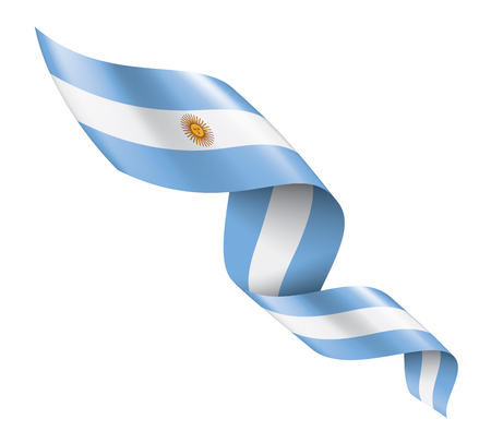 Argentina national flag, vector illustration on a white background 免版税图像 - 122518623