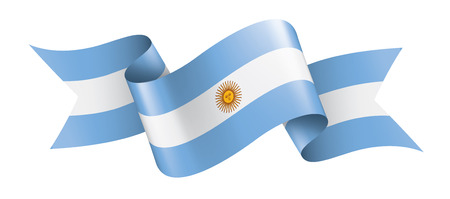 Argentinien Nationalflagge, Vektorillustration auf einem weißen Hintergrund