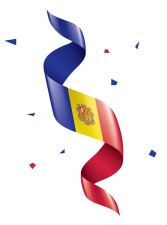 Andora national flag, vector illustration on a white background