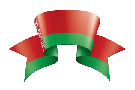 Belarus national flag, vector illustration on a white background 向量圖像