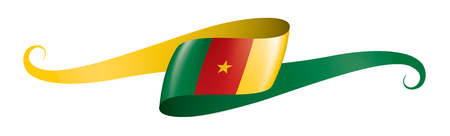 Cameroon national flag, vector illustration on a white background Ilustração