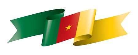 Cameroon national flag, vector illustration on a white background Illustration