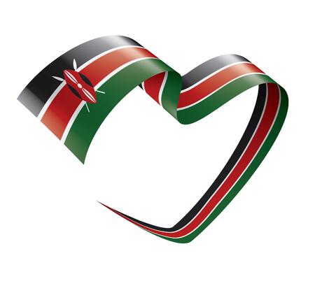 Kenya national flag, vector illustration on a white background Vetores