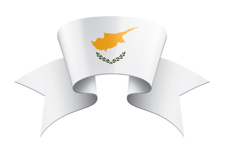Cyprus national flag, vector illustration on a white background Archivio Fotografico - 121970498
