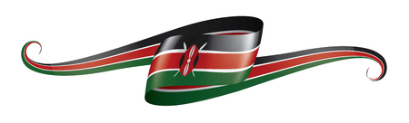 Kenya national flag, vector illustration on a white background Ilustrace