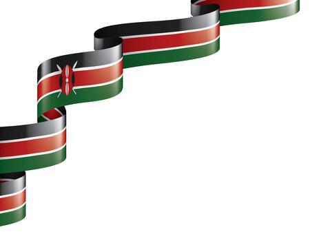 Kenya national flag, vector illustration on a white background