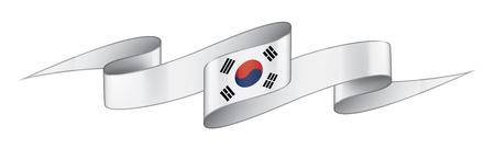 South Korean national flag, vector illustration on a white background Ilustrace