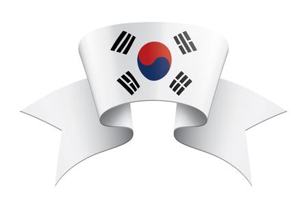 South Korean national flag, vector illustration on a white background Illustration