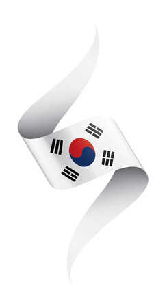 South Korean national flag, vector illustration on a white background 矢量图像