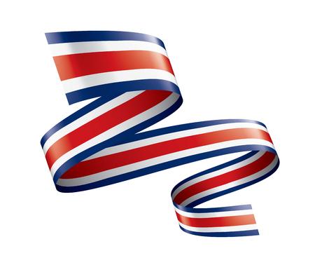 Bandera nacional de Costa Rica, ilustración vectorial sobre un fondo blanco.