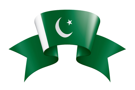 Pakistan flag, vector illustration on a white background