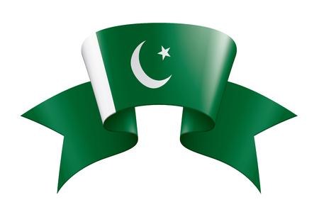 Pakistan flag, vector illustration on a white background Illustration