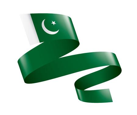 Drapeau du Pakistan, illustration vectorielle sur fond blanc