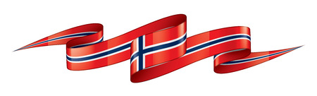 Norway national flag, vector illustration on a white background Stock Illustratie