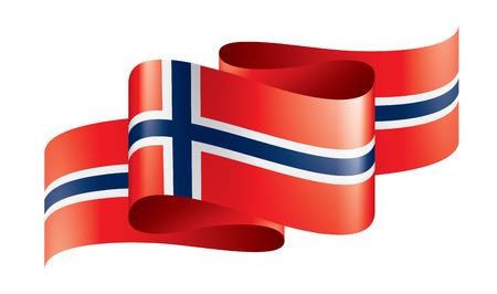 Norway national flag, vector illustration on a white background Ilustração