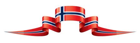 Nationale vlag van Noorwegen, vectorillustratie op een witte achtergrond