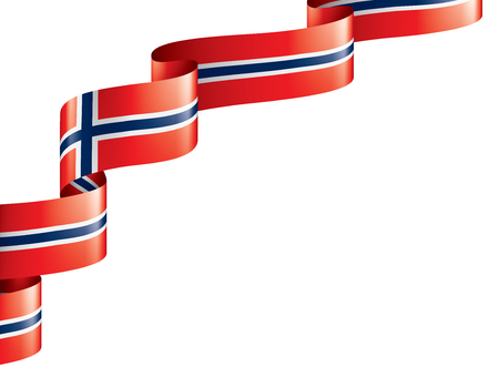 Norway national flag, vector illustration on a white background 向量圖像