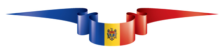Moldova national flag, vector illustration on a white background