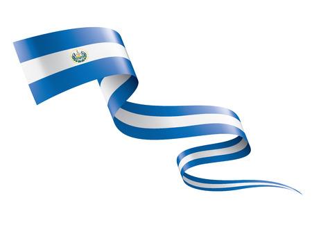 Bandera nacional de Salvador, ilustración vectorial sobre un fondo blanco.