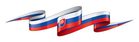 Slovakia national flag, vector illustration on a white background
