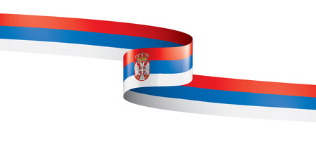 Serbia national flag, vector illustration on a white background