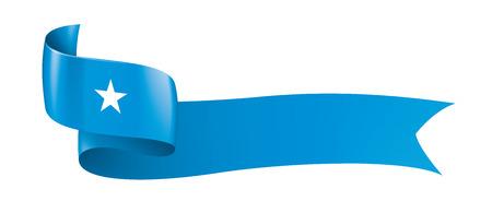 Somalia national flag, vector illustration on a white background