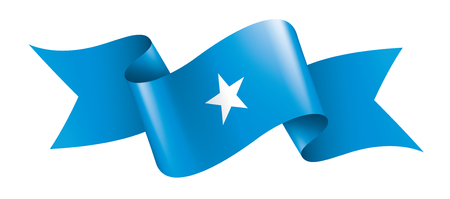 Somalia national flag, vector illustration on a white background