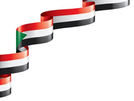 Drapeau national du Soudan, illustration vectorielle sur fond blanc