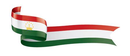 Tajikistan national flag, vector illustration on a white background