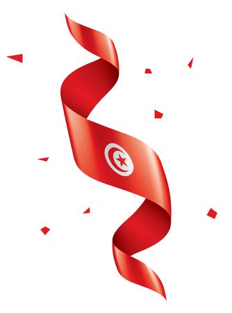 Tunisia national flag, vector illustration on a white background Ilustração
