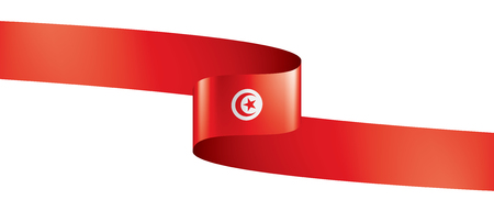 Tunisia flag, vector illustration on a white background
