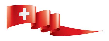 Switzerland national flag, vector illustration on a white background