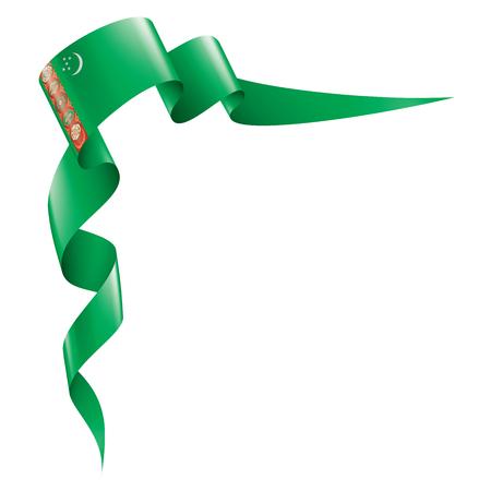 Turkmenistan national flag, vector illustration on a white background 版權商用圖片 - 122388599