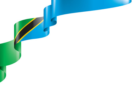 Tanzania national flag, vector illustration on a white background Иллюстрация