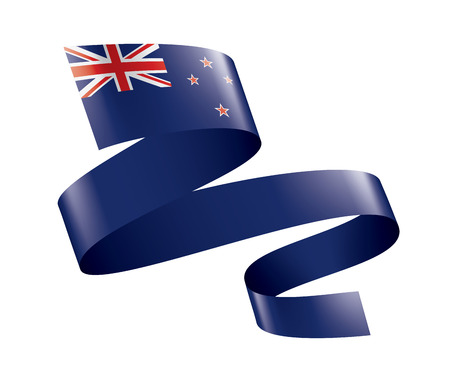 New Zealand national flag, vector illustration on a white background