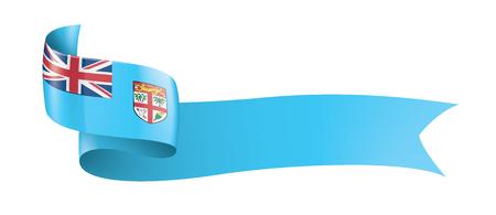 Fiji national flag, vector illustration on a white background 일러스트