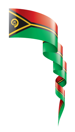 Vanuatu national flag, vector illustration on a white background  イラスト・ベクター素材