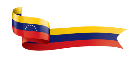 Venezuela national flag, vector illustration on a white background Foto de archivo - 122388808