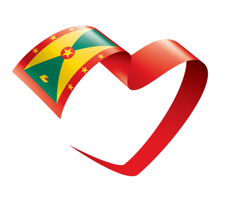 Grenada national flag, vector illustration on a white background Illustration